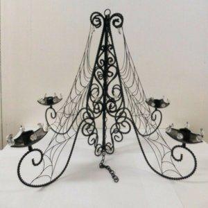 Halloween Metal  Spider Web Candle Chandelier
